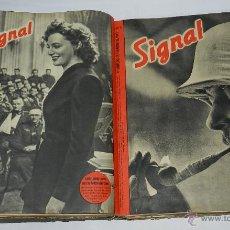 Militaria: TOMO CON 9 REVISTAS SIGNAL SP. N. 2, 3, 4, 5, 6, 7, 8, 9, 10, NUMEROS DE 1942 EN ESPAÑOL - 46 PAG. C. Lote 44094052