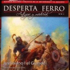 Militaria: DESPERTA FERRO. ANTIGUA Y MEDIEVAL . N.18. JUSTINIANO I EL GRANDEREVISTA DE HISTORIA MILITAR. Lote 53111391