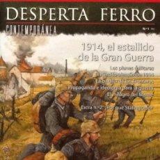 Militaria: DESPERTA FERRO CONTEMPORÁNEA N. 1 1914, EL ESTALLIDO DE LA GRAN GUERRA. Lote 136818752