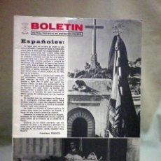 Militaria: BOLETIN, Nº ?, JEFATURA PROVINCIAL DEL MOVIMIENTO - VALENCIA, FALANGE, FRANCO HA MUERTO, VIVA EL REY. Lote 44886434