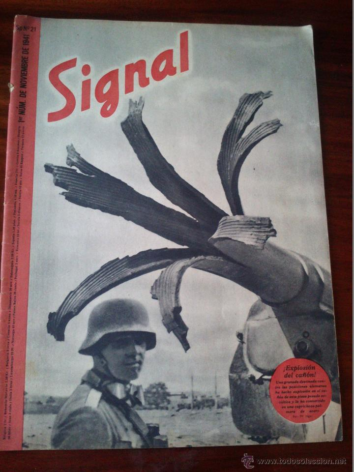 REVISTA SIGNAL Nº 21 NOVIEMBRE 1941 CASTELLANO (Militar - Revistas y Periódicos Militares)