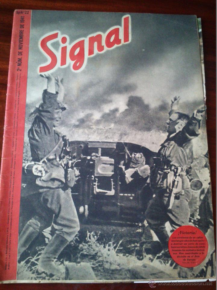 REVISTA SIGNAL Nº 22 NOVIEMBRE 1941 CASTELLANO (Militar - Revistas y Periódicos Militares)