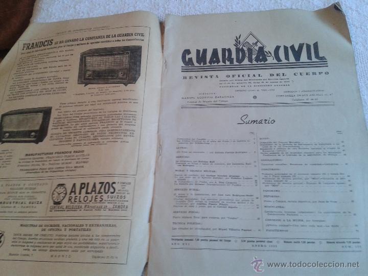 Militaria: REVISTA DE LA GUARDIA CIVIL. REVISTA OFICIAL DEL CUERPO. ENERO 1959. Nº 177 - Foto 2 - 45445220