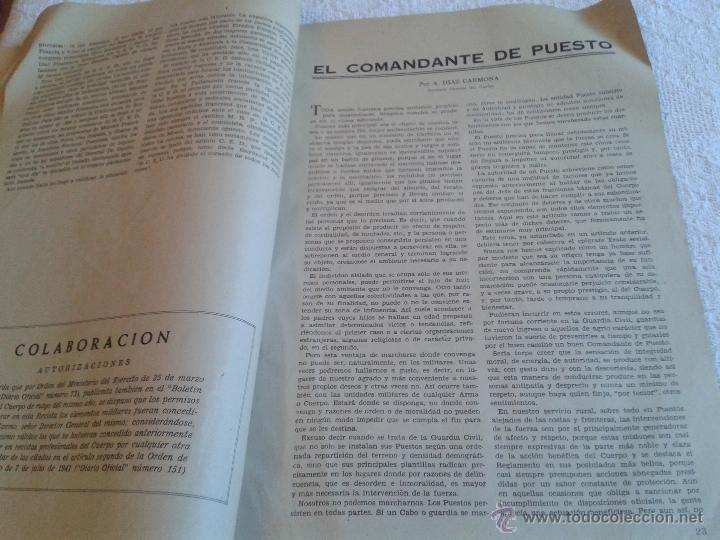 Militaria: REVISTA DE LA GUARDIA CIVIL. REVISTA OFICIAL DEL CUERPO. ENERO 1959. Nº 177 - Foto 3 - 45445220