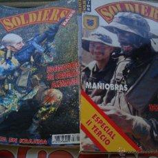 Militaria: 37 REVISTAS SOLDIERS, CONGRESO ANUAL DE UNIFORMES MILITARES, AGRUPACIONES ESPAÑOLAS UNPROFOR, ETC. Lote 46033309
