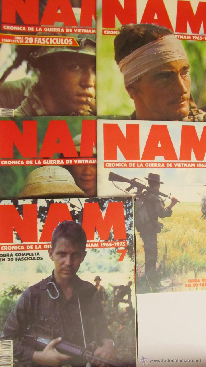 LOTE DE 4 FASCÍCULOS + 1 DE REGALO NAM. CRÓNICA DE LA GUERRA DE VIETNAM 1965 (PLANETA DE AGOSTINI) (Militar - Revistas y Periódicos Militares)