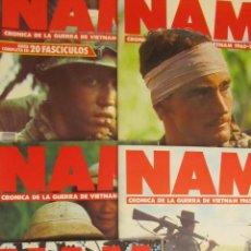 Militaria: LOTE DE 4 FASCÍCULOS + 1 DE REGALO NAM. CRÓNICA DE LA GUERRA DE VIETNAM 1965 (PLANETA DE AGOSTINI). Lote 47209358