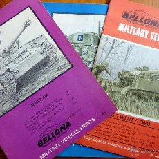 Militaria: LOTE 3 REVISTAS VEHICULOS MILITARES . TANQUES BELLONA . 1969 70 . SERIES 22 - 19 - 6 INGLÉS MILITAR. Lote 48289933