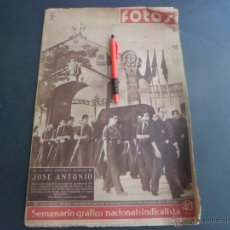 Militaria: REVISTA FOTOS - FUNERAL DE JOSE ANTONIO PRIMO DE RIVERA - NOVIEMBRE 1939 - PARACUELLOS. Lote 48760030