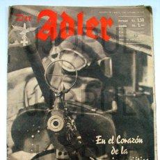 Militaria: DER ADLER. Nº 20 7 OCTUBRE 1941. LUFTWAFE. II GUERRA MUNDIAL AVIACION. Lote 49001512
