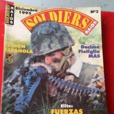 Militaria: REVISTA SOLDIERS RAIDS NUM 3, LEGION ESPAÑOLA, LA BRIGADA CASTILLEJOS. Lote 49243196
