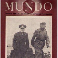 Militaria: MUNDO Nº 110. MADRID, 14 JUNIO 1942. Lote 49302020