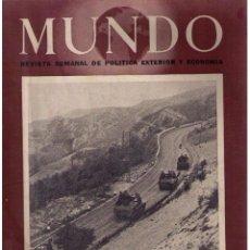 Militaria: MUNDO Nº 179. MADRID, 10 OCTUBRE 1943. Lote 49304541