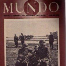 Militaria: MUNDO Nº 106. MADRID, 17 MAYO 1942. Lote 49304556