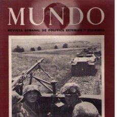 Militaria: MUNDO Nº 171. MADRID, 15 AGOSTO 1943. Lote 49304588
