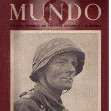 Militaria: MUNDO Nº 177. MADRID, 26 SEPTIEMBRE 1943. Lote 49304637