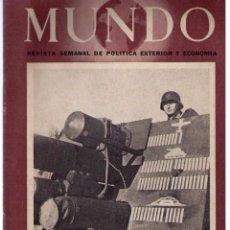 Militaria: MUNDO Nº 153. MADRID, 11 ABRIL 1943. Lote 49304722