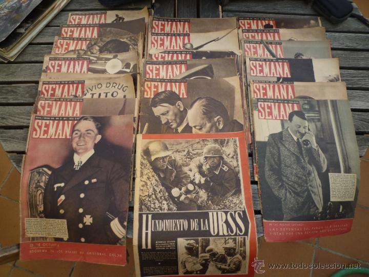 LOTE 19 REVISTAS SEMANA SEGUNDA GUERRA MUNDIAL (Militar - Revistas y Periódicos Militares)