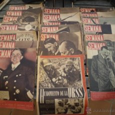 Militaria: LOTE 19 REVISTAS SEMANA SEGUNDA GUERRA MUNDIAL. Lote 49450287