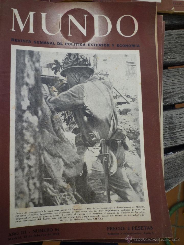 Militaria: LOTE 24 REVISTAS MUNDO AÑOS 40 SEGUNDA GUERRA MUNDIAL - Foto 2 - 49450445