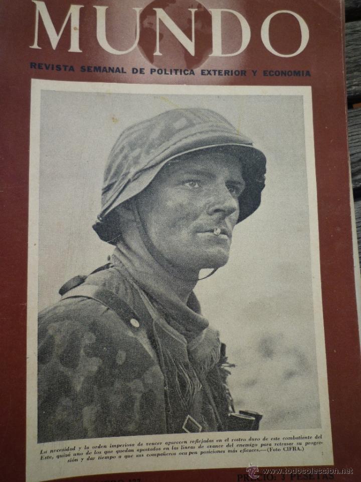 Militaria: LOTE 24 REVISTAS MUNDO AÑOS 40 SEGUNDA GUERRA MUNDIAL - Foto 3 - 49450445