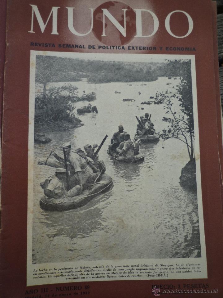 Militaria: LOTE 24 REVISTAS MUNDO AÑOS 40 SEGUNDA GUERRA MUNDIAL - Foto 4 - 49450445