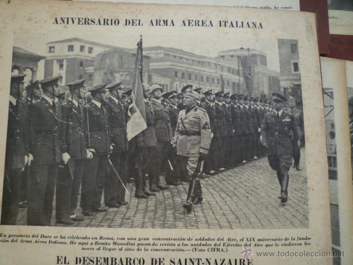 Militaria: LOTE 24 REVISTAS MUNDO AÑOS 40 SEGUNDA GUERRA MUNDIAL - Foto 6 - 49450445