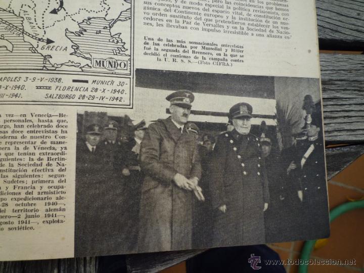 Militaria: LOTE 24 REVISTAS MUNDO AÑOS 40 SEGUNDA GUERRA MUNDIAL - Foto 9 - 49450445