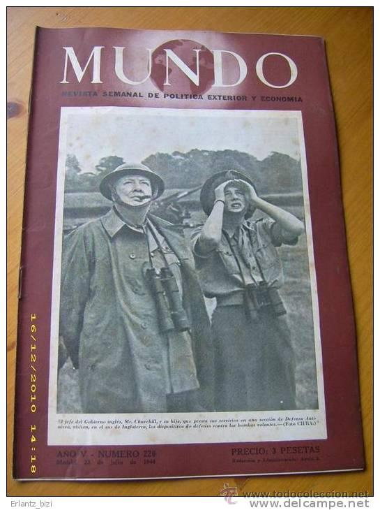 II GUERRA MUNDIAL LOTE OFERTON 100 REVISTAS MUNDO 1940-1948 (Militar - Revistas y Periódicos Militares)