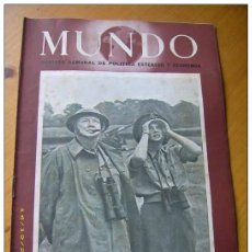 Militaria: II GUERRA MUNDIAL LOTE OFERTON 100 REVISTAS MUNDO 1940-1948. Lote 49476522