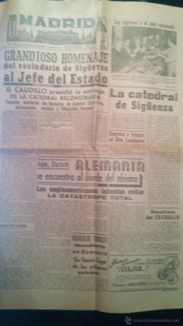 DIARIO DE LA NOCHE MADRID, ENTREGA DE LA CATEDRAL DE SIGÜENZA. (Militar - Revistas y Periódicos Militares)