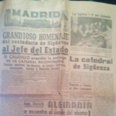 Militaria: DIARIO DE LA NOCHE MADRID, ENTREGA DE LA CATEDRAL DE SIGÜENZA.. Lote 161081968