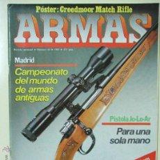 Militaria: REVISTA ARMAS Nº 42 - AÑO 1985 - CAMPEONATO DEL MUNDO DE ARMAS ANTIGUAS MADRID PISTOLA JO-LO-AR. Lote 50984531