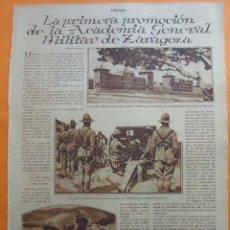 Militaria: ARTICULO 1930 - PRIMERA PROMOCION DE LA ACADEMIA GENERAL MILITAR DE ZARAGOZA - 2 PAG.. Lote 51139084