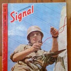 Militaria: BILTIDNINGEN SIGNAL REVISTA ALEMANA Nº 1 1945 ED. SCH. SUECA - EXTEMADAMENTE RARO PAGINAS EXTRAS. Lote 27612294