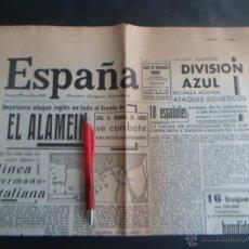 Militaria: PERIÓDICO ESPAÑA 26 OCTUBRE 1942- DIVISIÓN AZUL - EDICION FACSIMIL. Lote 52549161