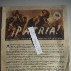 Militaria: REVISTA PORTA VOZ DE L HOGAR DEL EXCOMBATIENTE - DE TARRASA JULIO DE 1948 -. Lote 52631983