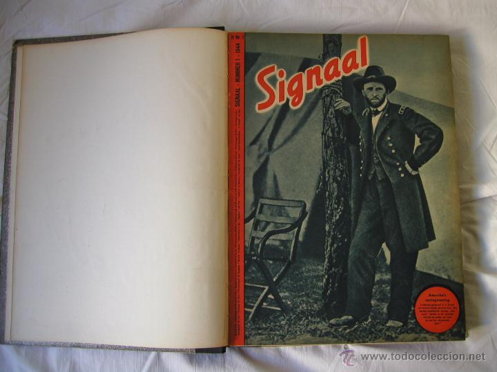Militaria: Revista SIGNAL SIGNAAL- !!! año 1944 ¡¡¡ Numeros muy dificiles de encontrar Alemania III Reich RAROS - Foto 2 - 52868885