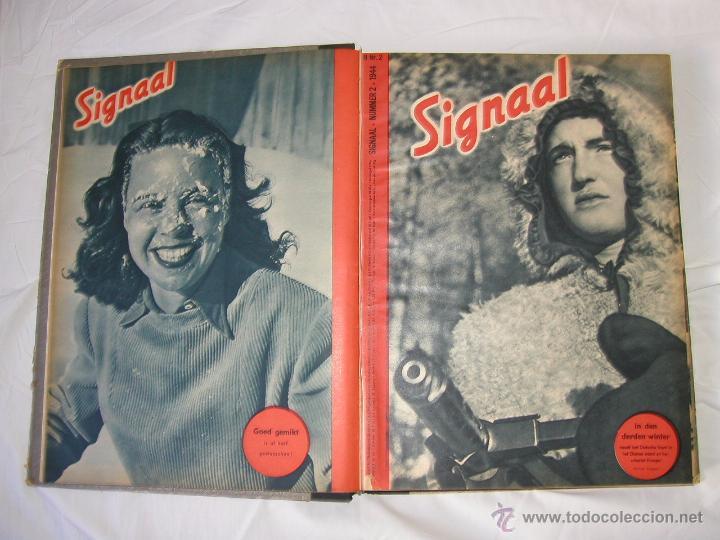 Militaria: Revista SIGNAL SIGNAAL- !!! año 1944 ¡¡¡ Numeros muy dificiles de encontrar Alemania III Reich RAROS - Foto 3 - 52868885