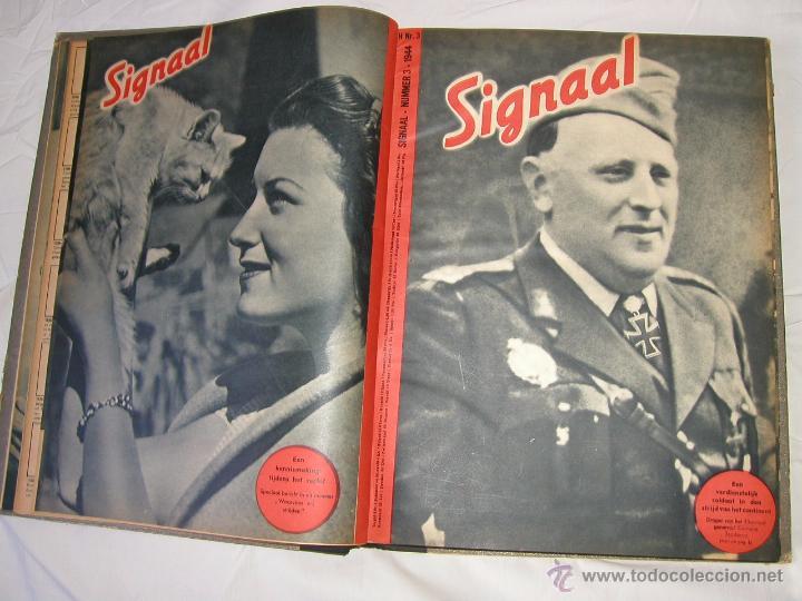 Militaria: Revista SIGNAL SIGNAAL- !!! año 1944 ¡¡¡ Numeros muy dificiles de encontrar Alemania III Reich RAROS - Foto 4 - 52868885