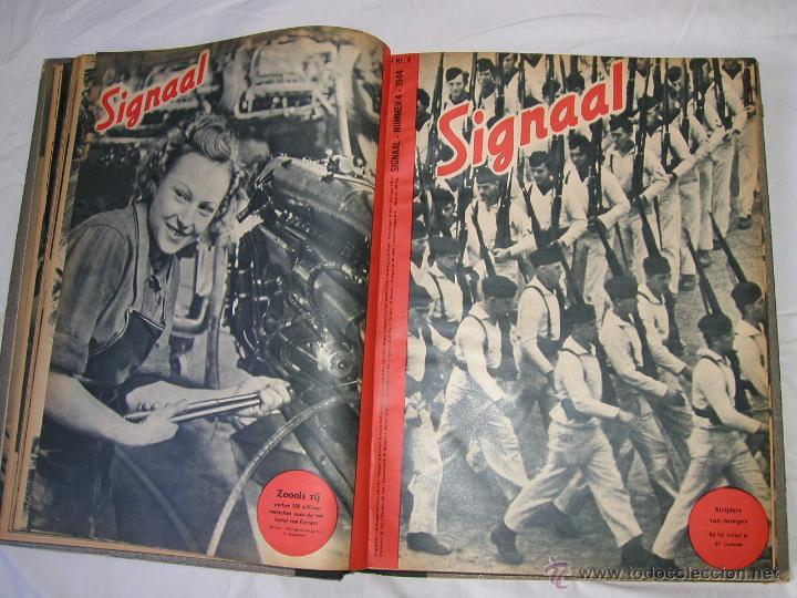 Militaria: Revista SIGNAL SIGNAAL- !!! año 1944 ¡¡¡ Numeros muy dificiles de encontrar Alemania III Reich RAROS - Foto 6 - 52868885