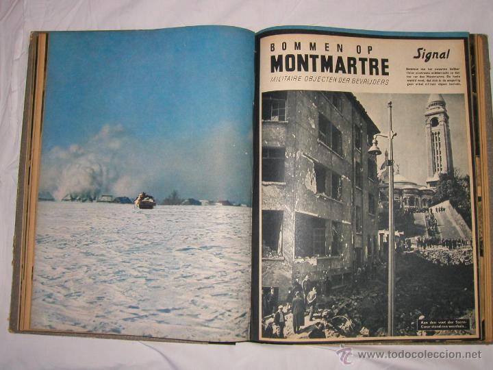Militaria: Revista SIGNAL SIGNAAL- !!! año 1944 ¡¡¡ Numeros muy dificiles de encontrar Alemania III Reich RAROS - Foto 9 - 52868885