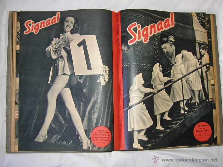 Militaria: Revista SIGNAL SIGNAAL- !!! año 1944 ¡¡¡ Numeros muy dificiles de encontrar Alemania III Reich RAROS - Foto 10 - 52868885