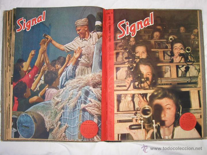 Militaria: Revista SIGNAL SIGNAAL- !!! año 1944 ¡¡¡ Numeros muy dificiles de encontrar Alemania III Reich RAROS - Foto 18 - 52868885