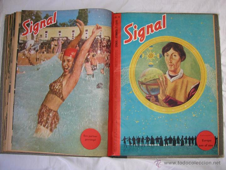 Militaria: Revista SIGNAL SIGNAAL- !!! año 1944 ¡¡¡ Numeros muy dificiles de encontrar Alemania III Reich RAROS - Foto 19 - 52868885