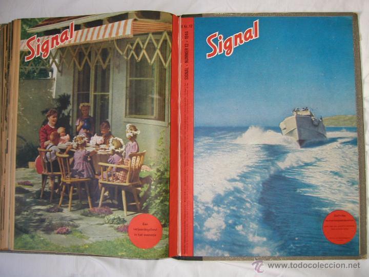 Militaria: Revista SIGNAL SIGNAAL- !!! año 1944 ¡¡¡ Numeros muy dificiles de encontrar Alemania III Reich RAROS - Foto 22 - 52868885