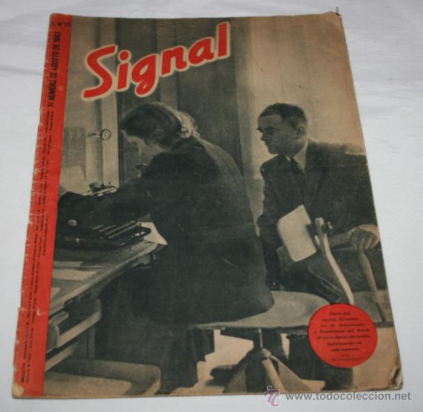 REVISTA ANTIGUA SIGNAL Nº 15 AGOSTO 1943, SEGUNDA GUERRA MUNDIAL (Militar - Revistas y Periódicos Militares)