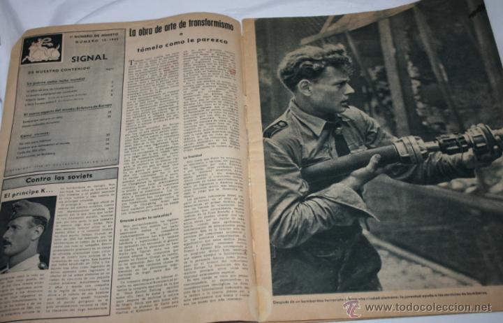 Militaria: REVISTA ANTIGUA SIGNAL Nº 15 AGOSTO 1943, SEGUNDA GUERRA MUNDIAL - Foto 12 - 52934499