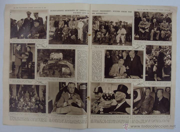 Militaria: THE ILLUSTRATED LONDON NEWS. (EN INGLES), II GUERRA MUNDIAL 21 ABRIL 1945 Nº 5531 - Foto 3 - 52934833