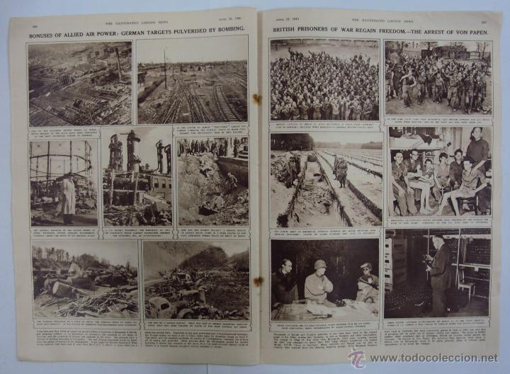 Militaria: THE ILLUSTRATED LONDON NEWS. (EN INGLES), II GUERRA MUNDIAL 21 ABRIL 1945 Nº 5531 - Foto 4 - 52934833